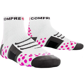 Compressport ProRacing Run Running Socks pink/white
